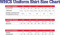 Shirt Sizes (youth & adult)
