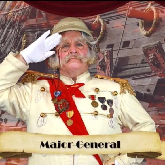 Actor Michael Walters as The Major General Stanley - The Pirates of Penzance