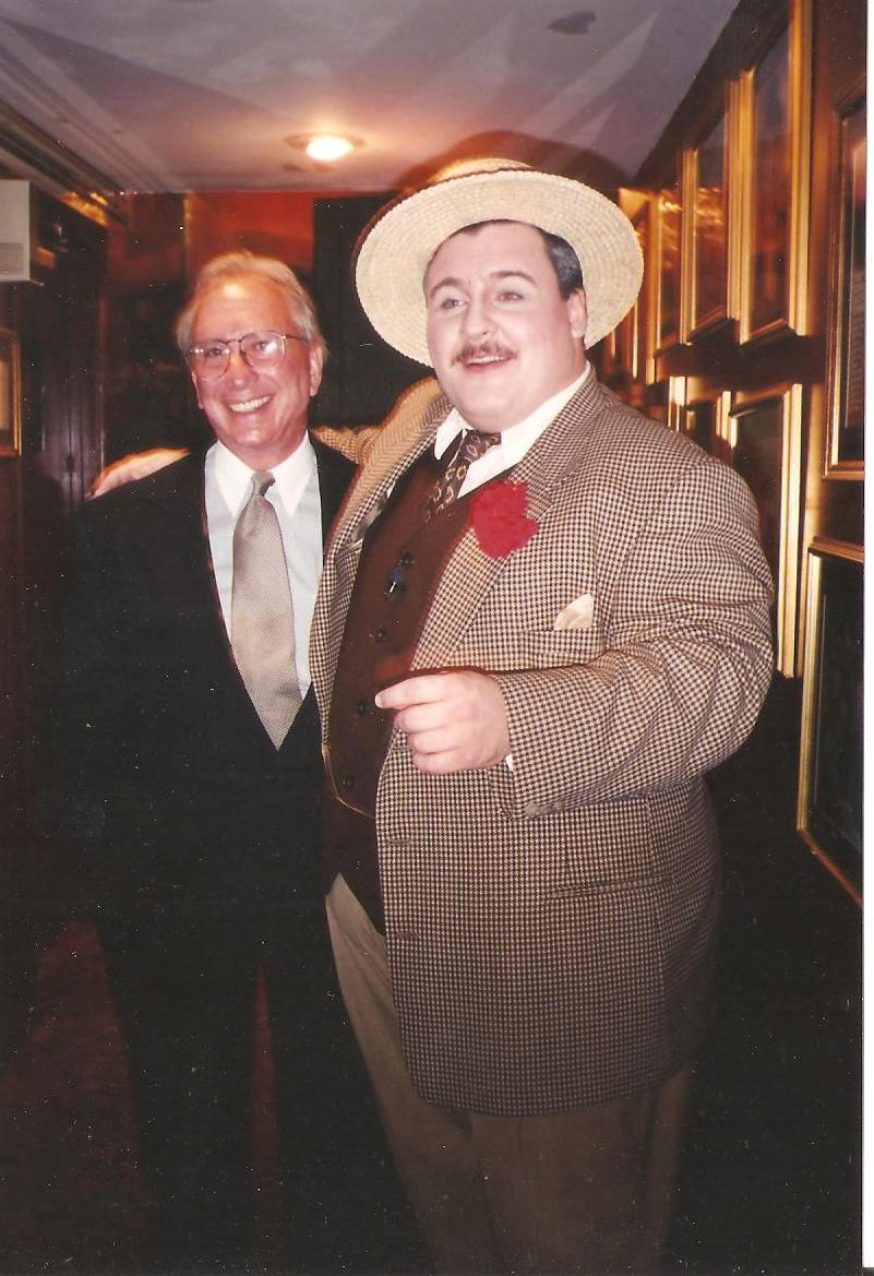 Actor Michael Walters as Jackie Gleason with Arthur Whitelaw