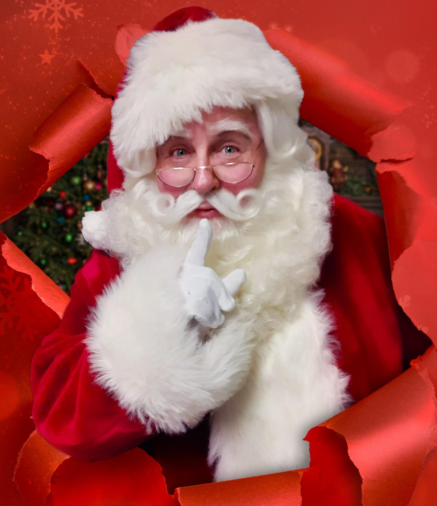 Actor Michael Walters as Santa Claus