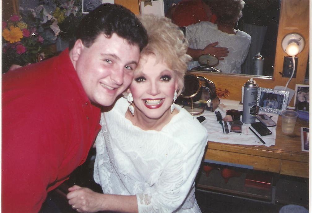 Actor Michael Walters backstage with Ruta Lee