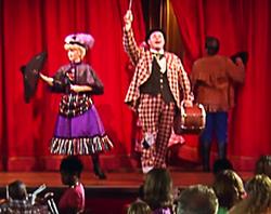 Actor Michael Walters as Six Bits Slocum in The Hoop Dee Doo Revue, Walt Disney World