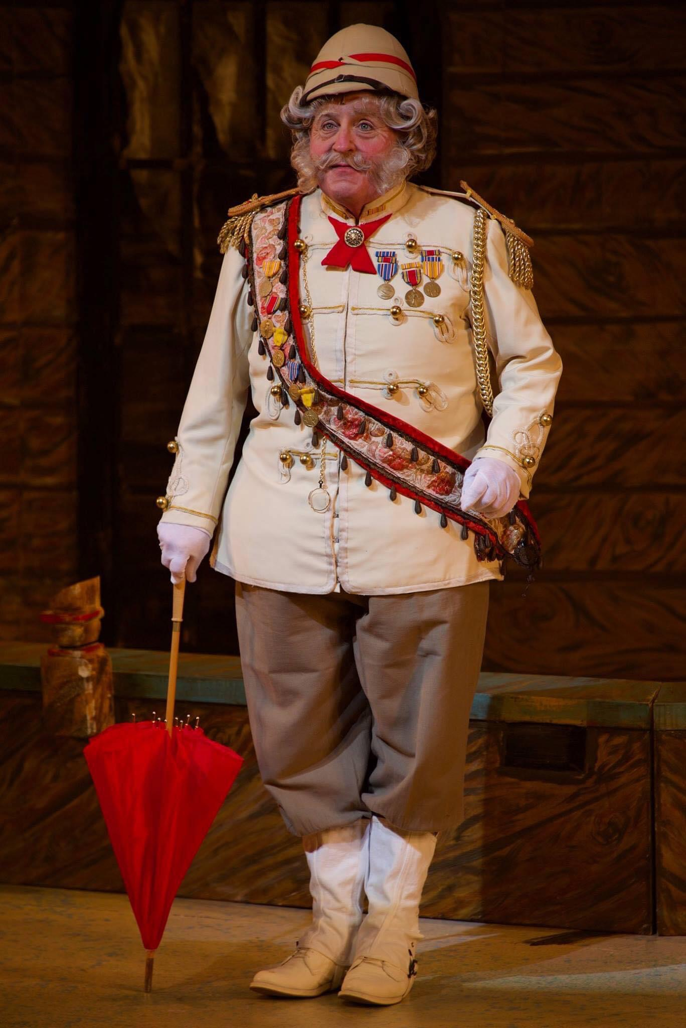 Actor Michael Walters as The Major General Stanley, The Pirates of Penzance