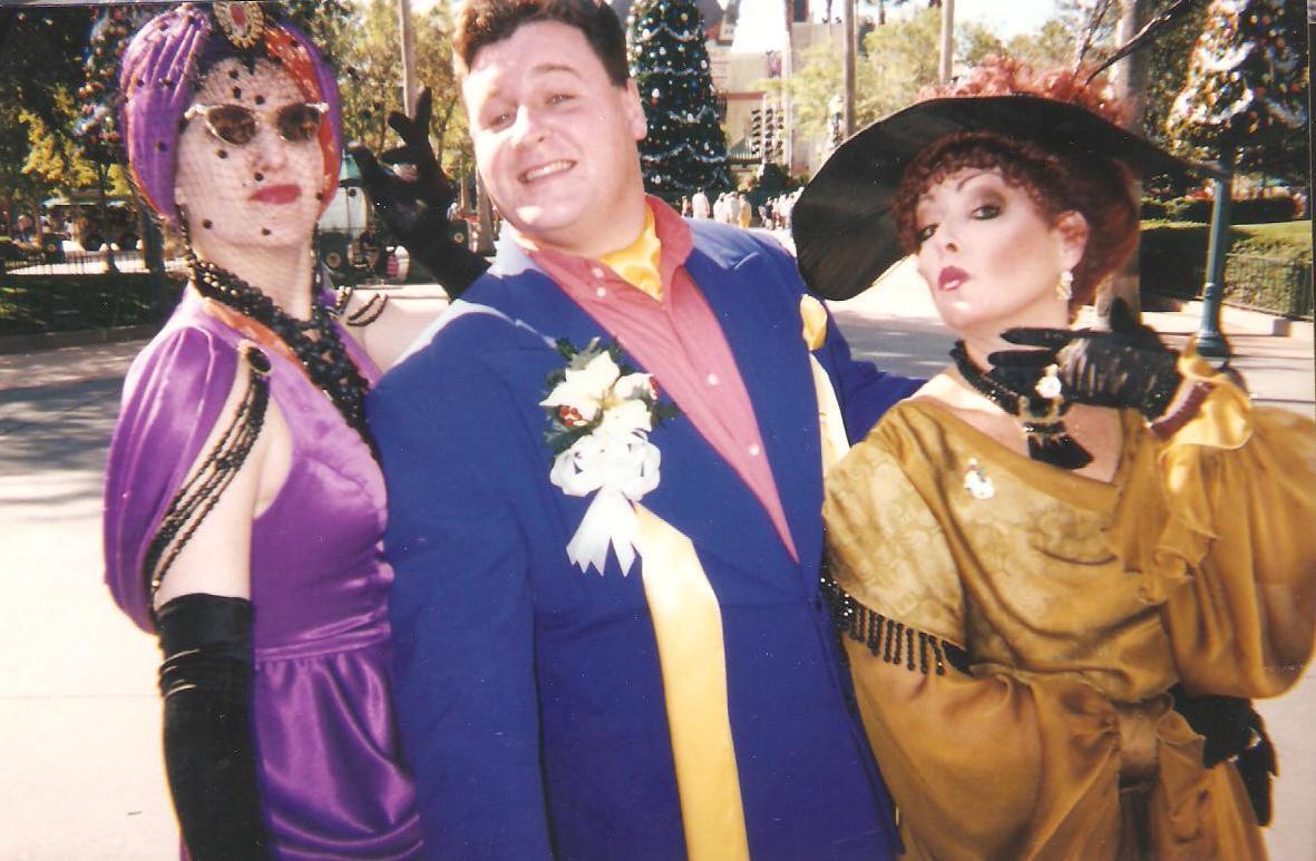 Actor Michael Walters as Nelson Peddy, Streetmosphere show, Walt Disney World
