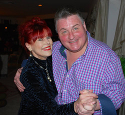 Actor Michael Walters with friend Vera Goulet, wife of the late Robert Goulet