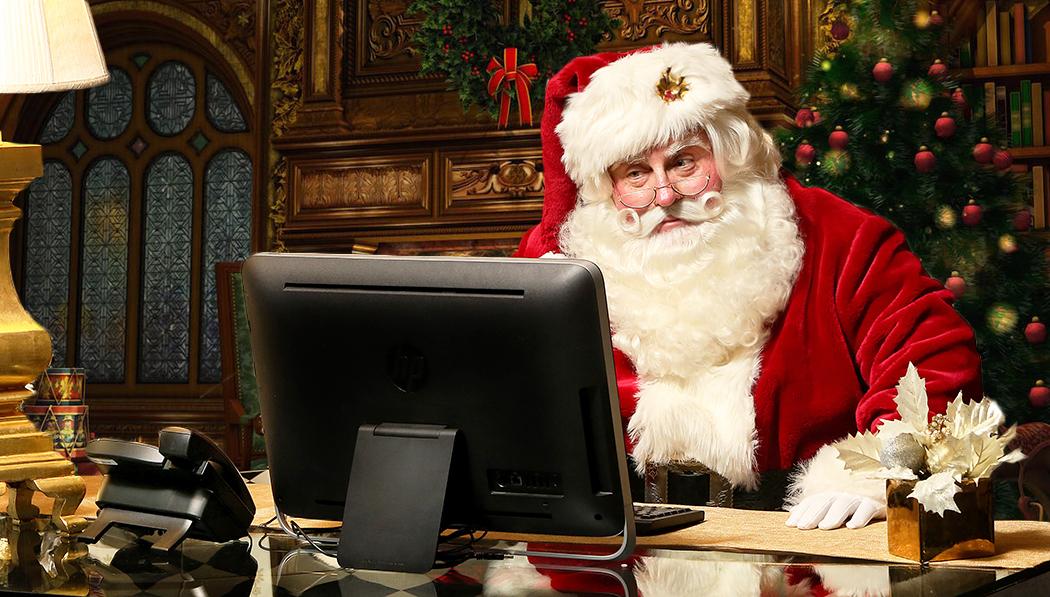 Actor Michael Walters as Santa Claus, Cover of Florida's Coastal Times