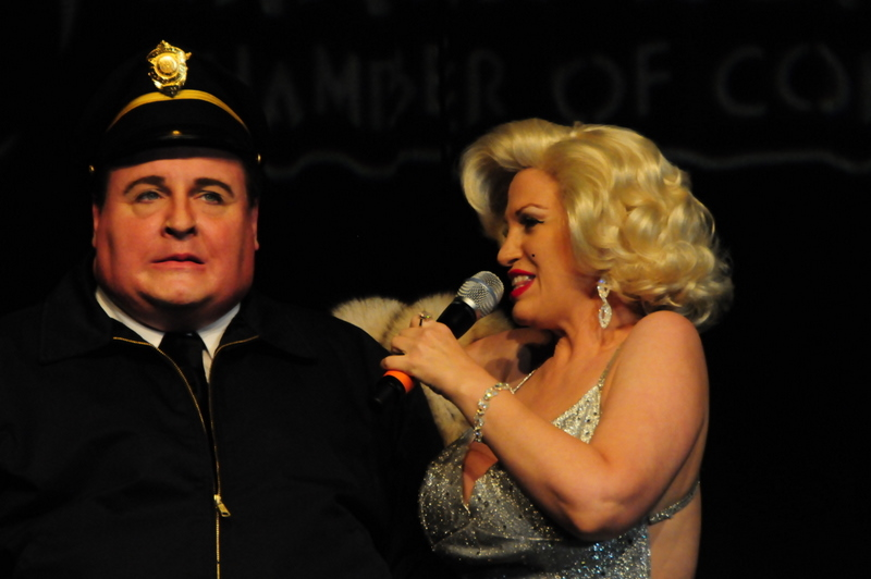 Michael Walters as JACKIE GLEASON with Camille Terry as Marilyn Monroe