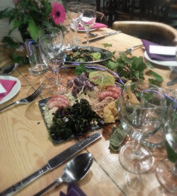 Starters at Whitstable wedding