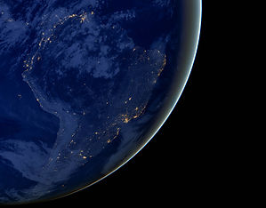 South America lights during night as it