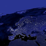 This image of Europe city lights was cre