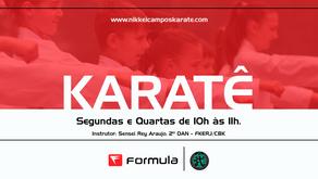 Academia Fórmula terá aulas de Karatê Goju ryu Seigokan