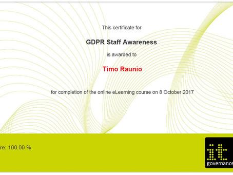 GDPR sertifikaatti Softmanille