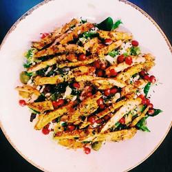 Chicken strip Pomegranate Salad