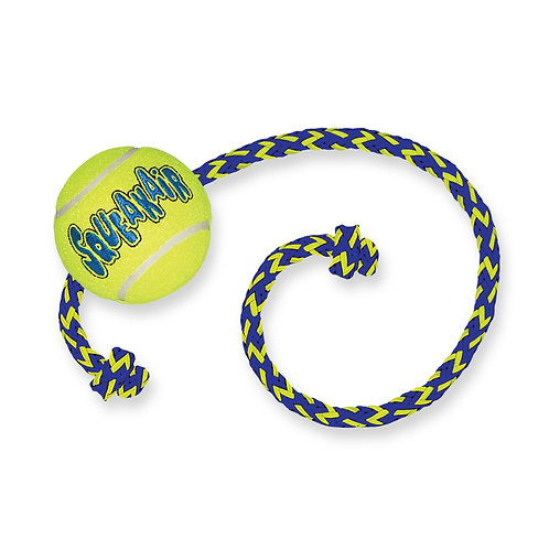 KONG squeaker tennis ball with rope