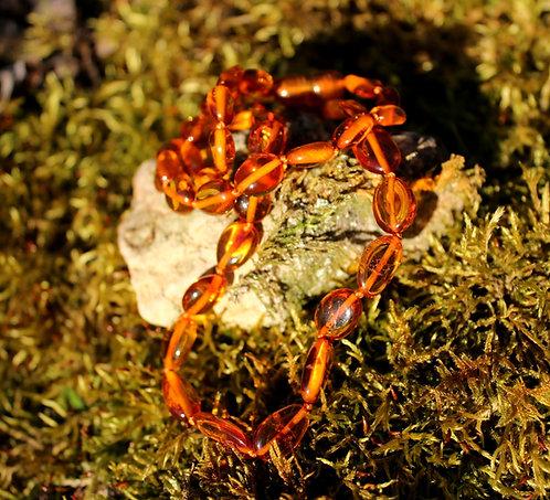 Colliers en Ambre Baltique Cognac