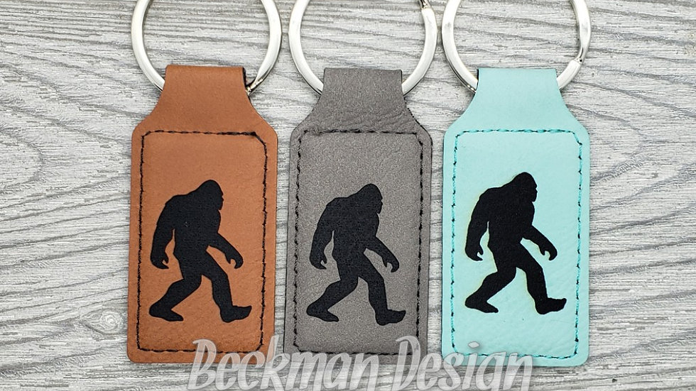 Bigfoot- Leather Keychain