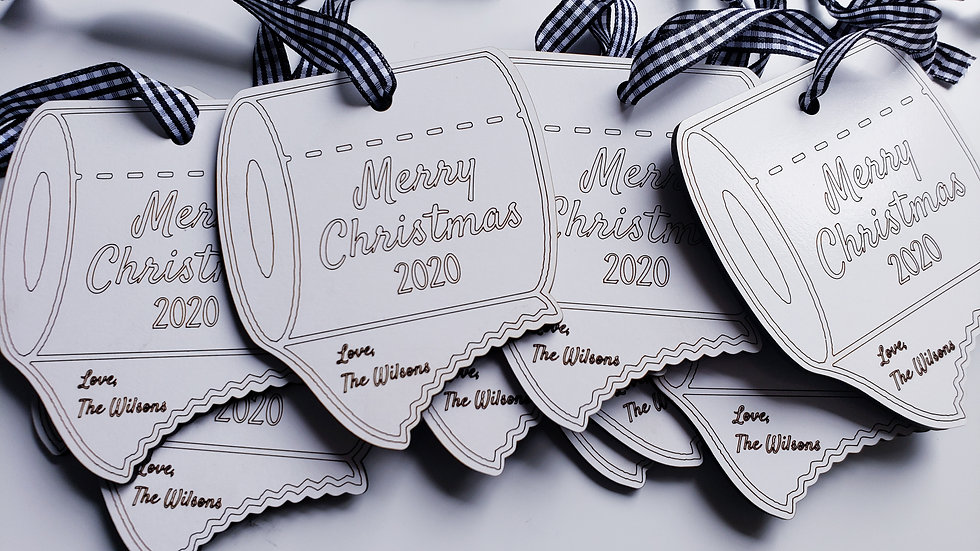 Merry christmas/personalized toilet paper ornament