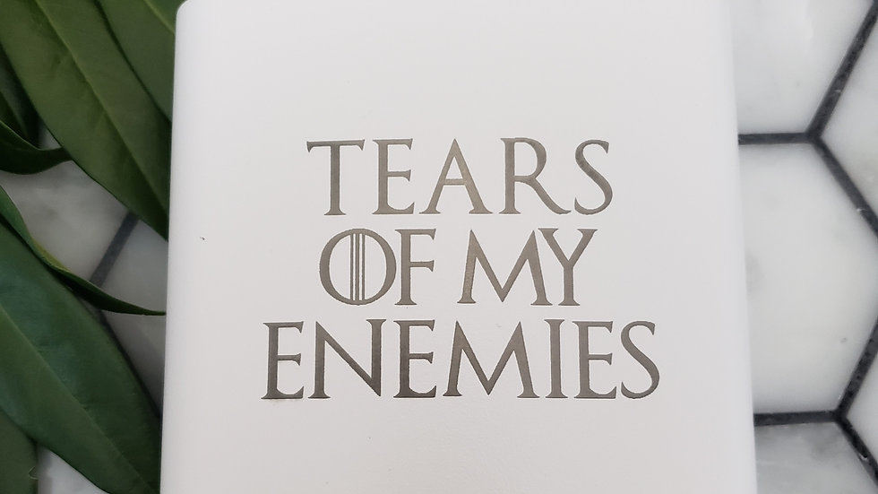 Tears of my Enemies- Leather or Powder coat finish
