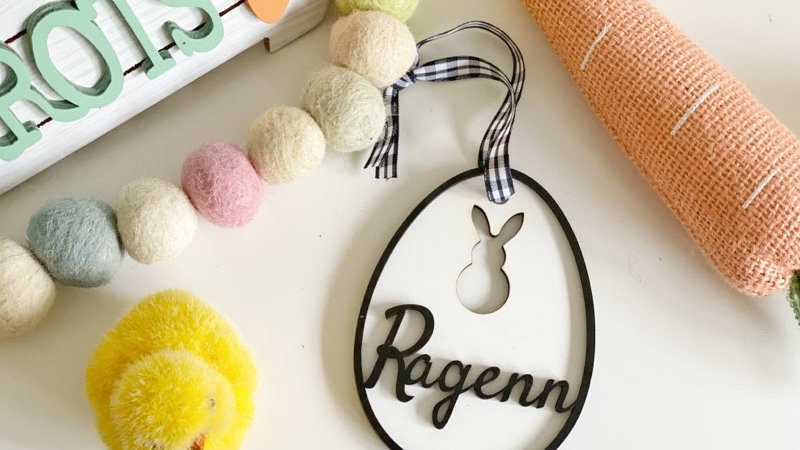 Easter Egg Tag- Personalized