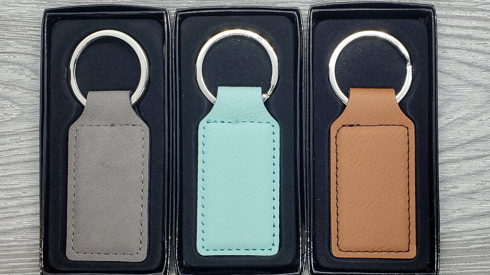 Custom- Leather Keychain