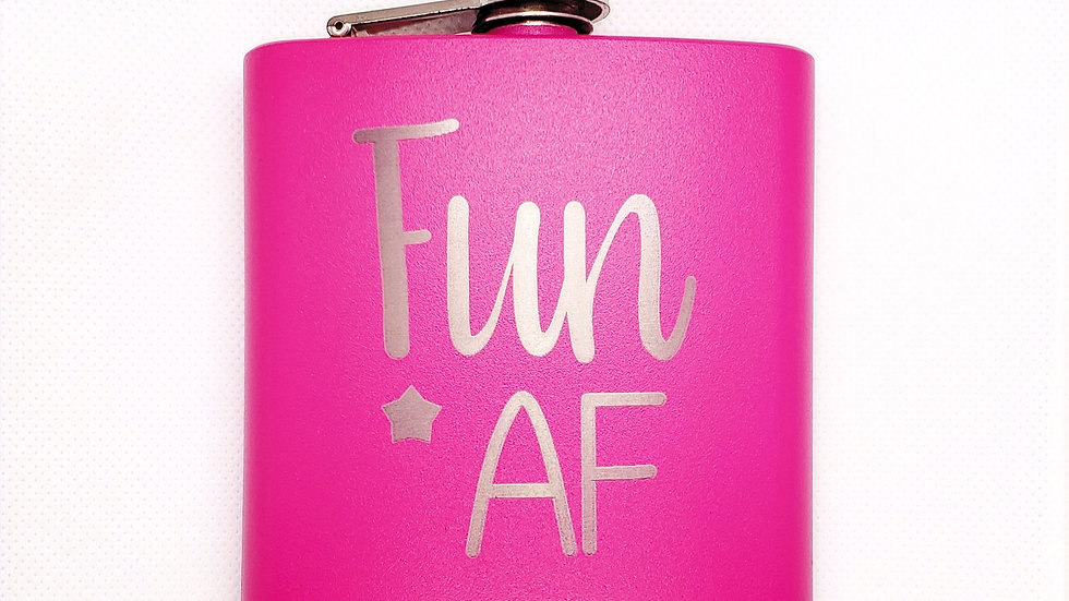 Fun AF FLASK- Leather or Powder coat finish