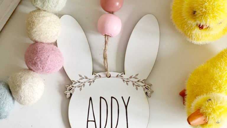 Easter Bunny Tag- Personalized