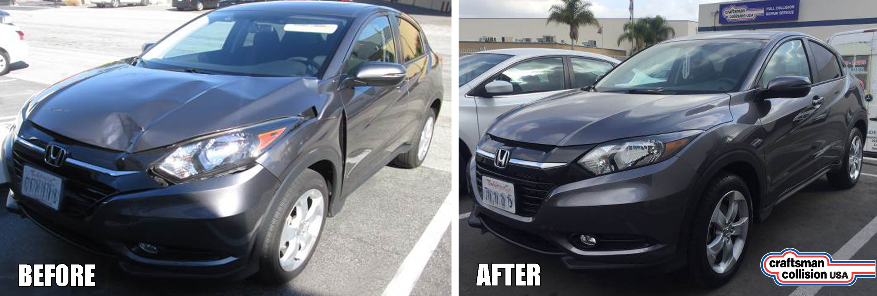 Honda HRV auto body repair