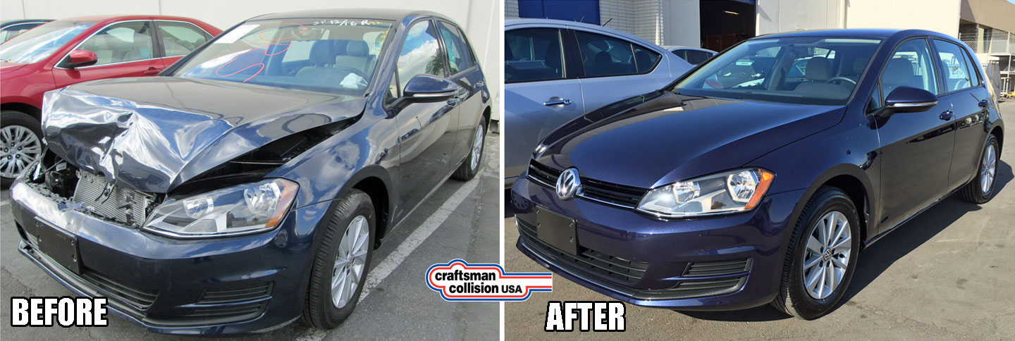 VW Golf front end repair