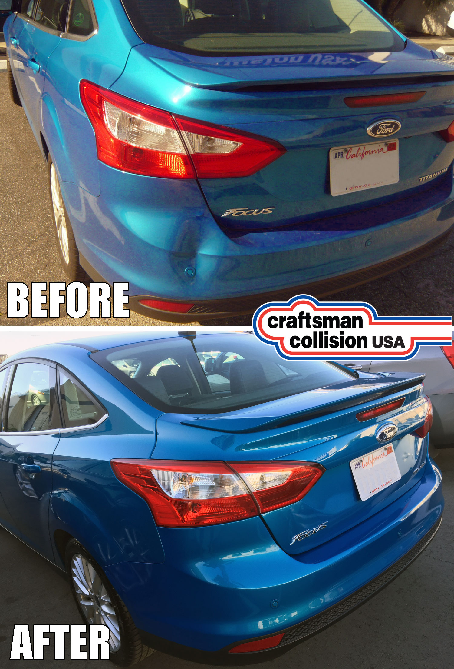 Ford focus bumper repair.