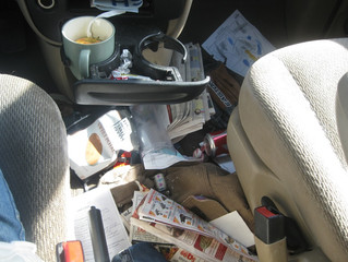 De-clutter your car for spring. Tips from our Long Beach Auto Body Shop.