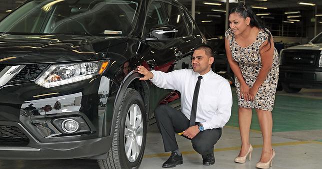 Inspecting auto body repairs in Long Beach, C