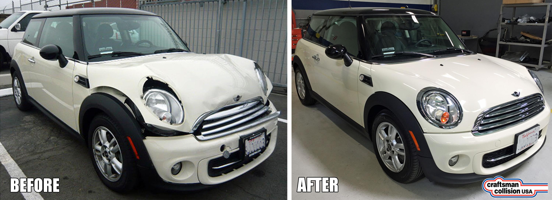 Mini Cooper collision repair