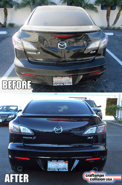 Mazda rear body repair