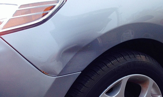 It's better to fix this dent now and prevent rust