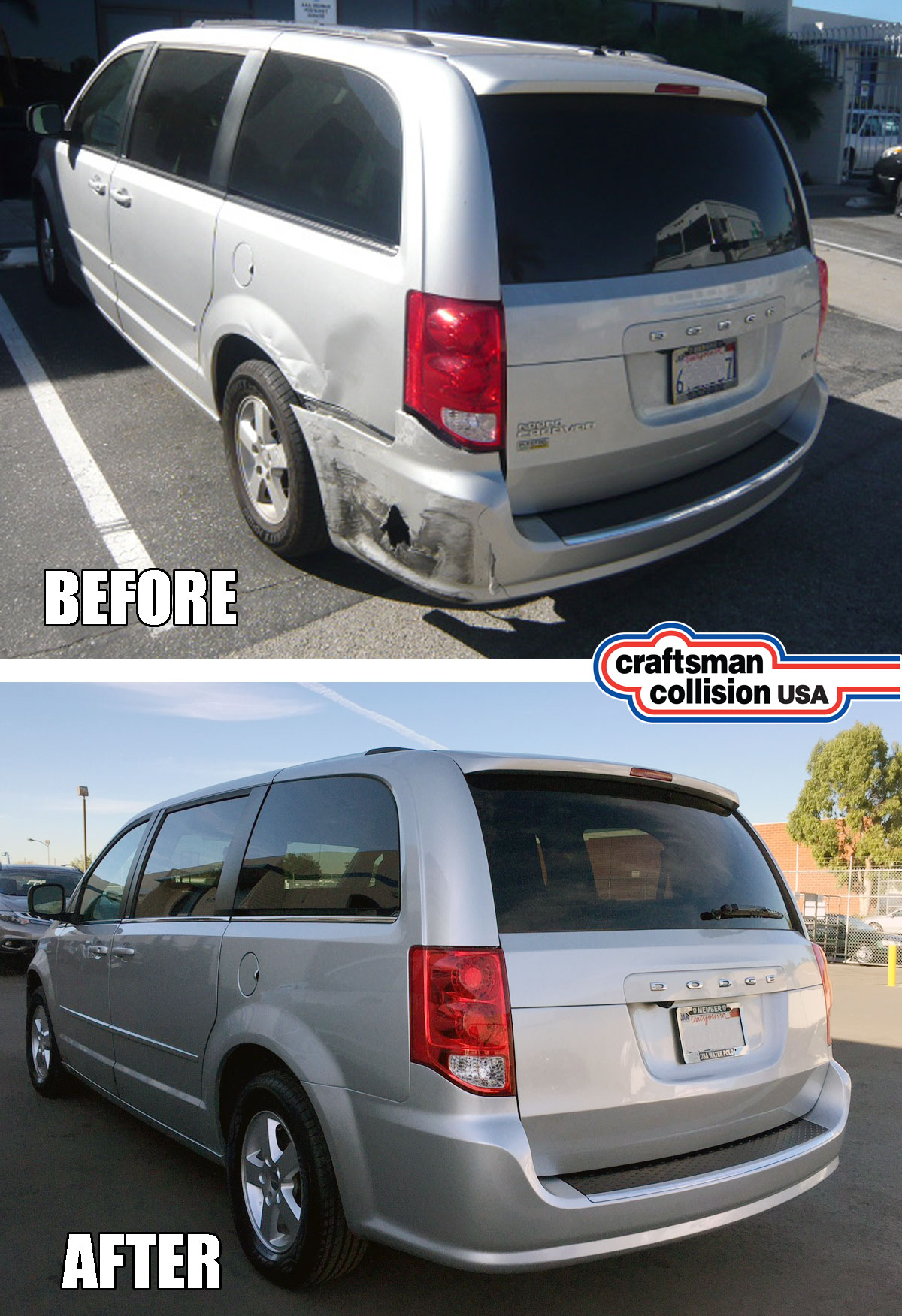 Dodge Caravan collision repairs
