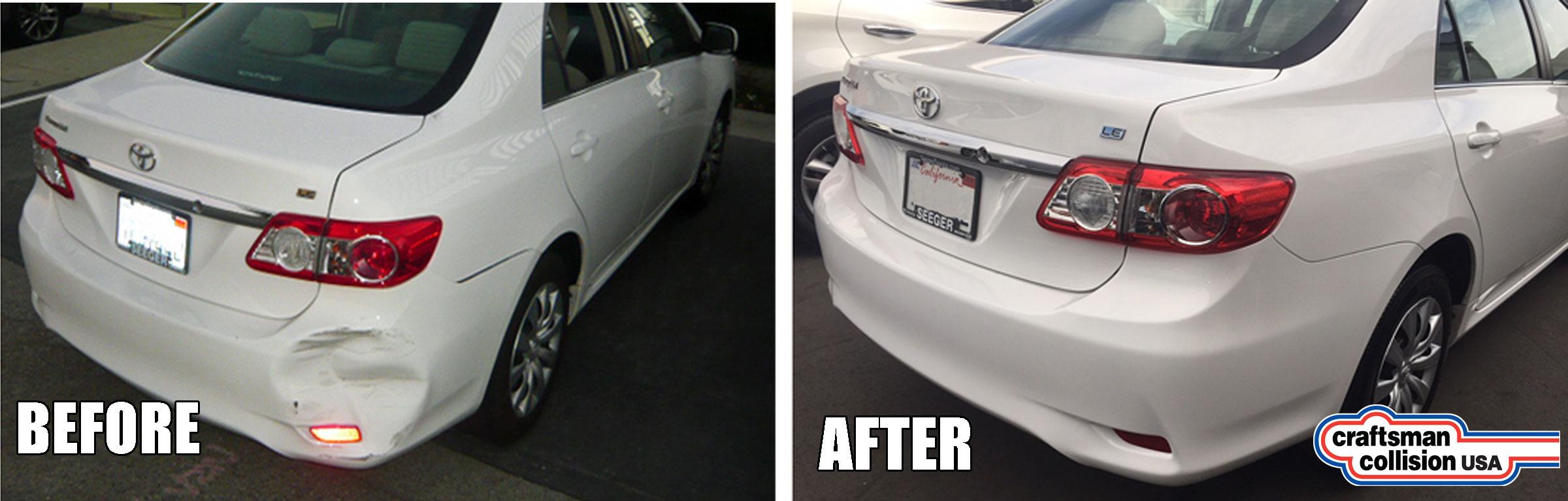 2013 Corolla bumper repair