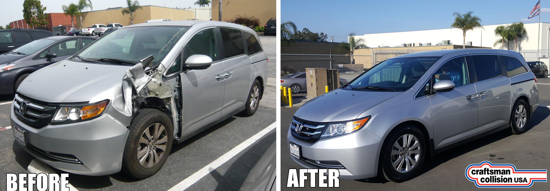 Honda Odyssey fender repair