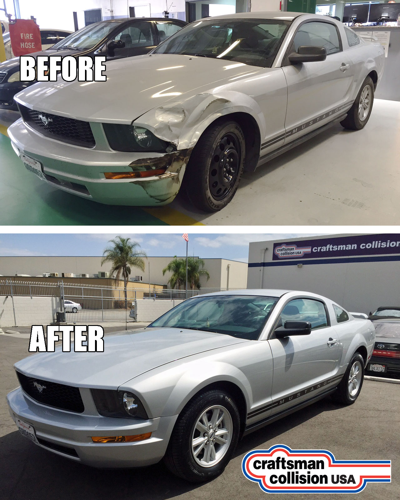2005 Mustang collision repair