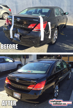 Toyota rear body repair