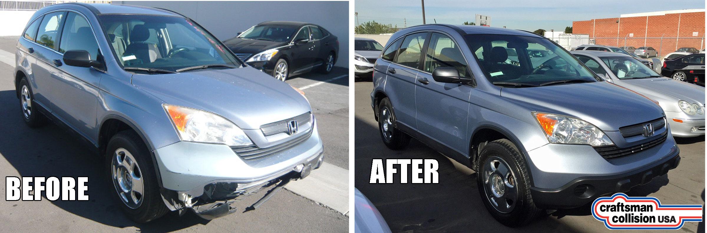 2008 Honda CRV - bumper repair