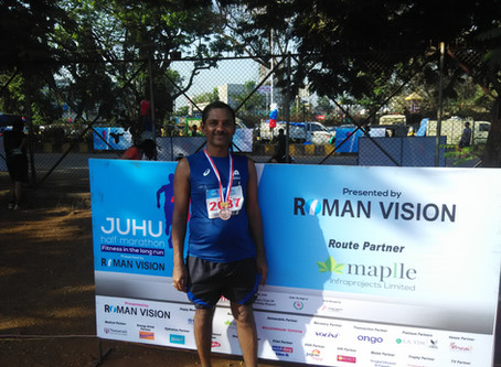 First Asian completed two official  half marathons in a single day