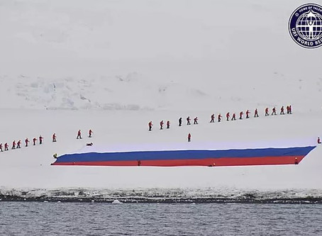 The Largest Flag Of Russia Deployed In Antarctica