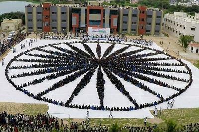 Largest Ashok Chakra Human Chain