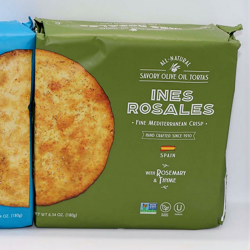 INES ROSALES CRACKERS ROSEMARY & THYME