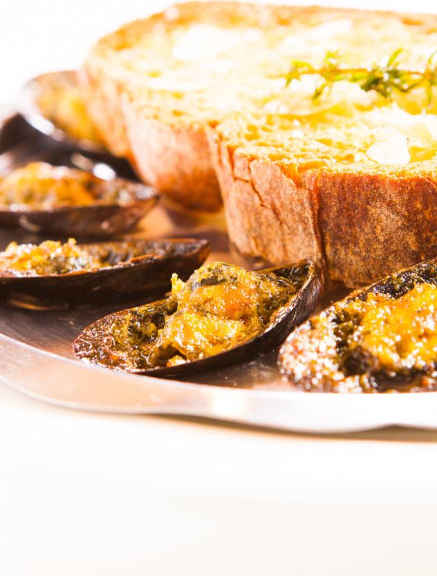 Mussels Gratin