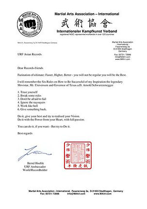 Authorize letter from MAA