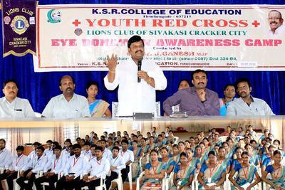 Most eye donation awareness