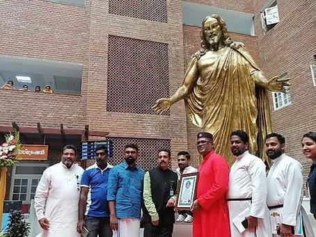 The Largest Trimetal Jesus's Sculpture