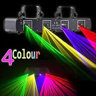 4 head laser disco lighting for disco party hire