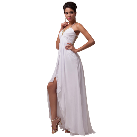 White Long Evening dress